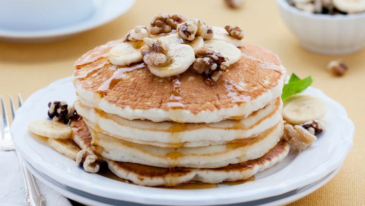 Protein Pancakes Birthday Cake