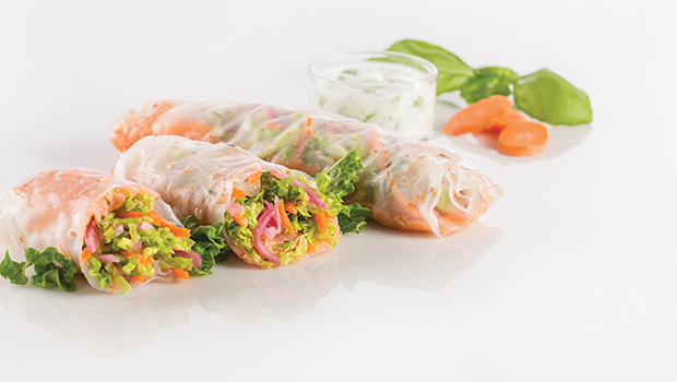 Smoked Salmon Spring Rolls Mindful By Sodexo Meals
