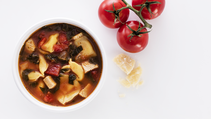 Nanas chicken tortellini soup recipe mindful by sodexo chicken tortellini baby spinach and tomatoes in chicken stock topped with parmesan forumfinder Choice Image